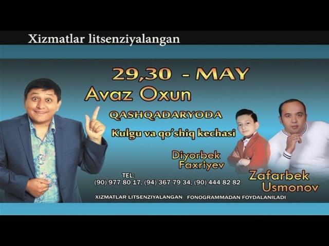 Afisha Avaz Oxun - Qashqadaryoda 29-30may kunlari konsert beradi 2015