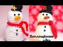 СНЕГОВИК крючком!Новогодний подарок!Одежда для кукол Монстер Хай из резинок!Снеговик из резинок