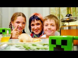 Майнкрафт чашки Криперы и имбирный чай. Маша, Света и блоггер Адриан