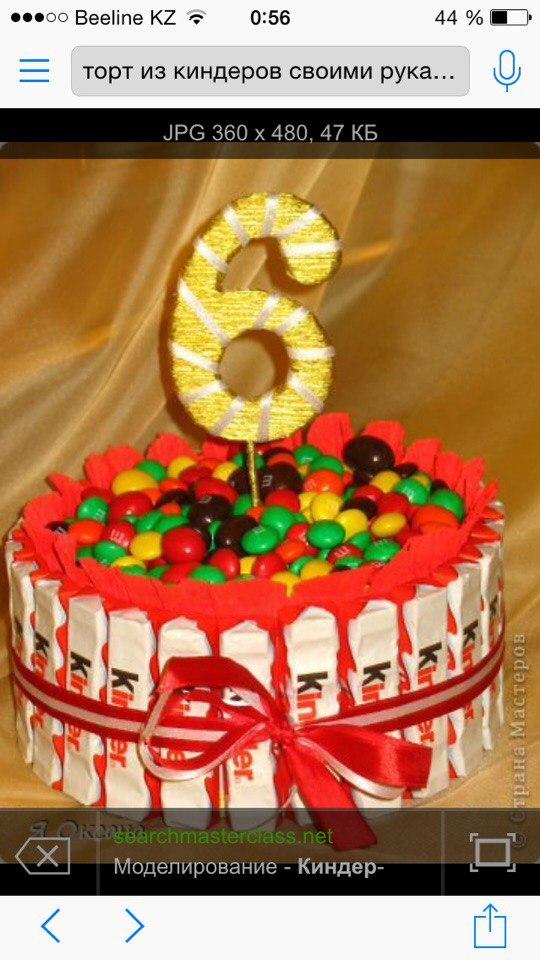Торт из шоколадок своими руками с фото