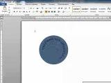 Как сделать текст в Word 2010  по кругу
