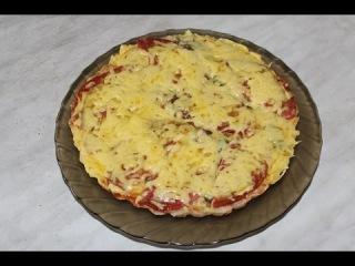 Пицца в микроволновке за 10 минут( основа из белого батона)