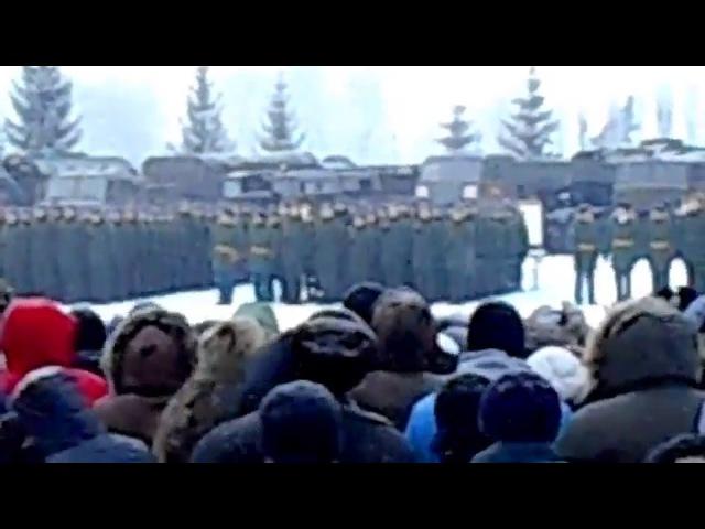 в/ч 20115 г. Острогожск Присяга январь 2016 г
