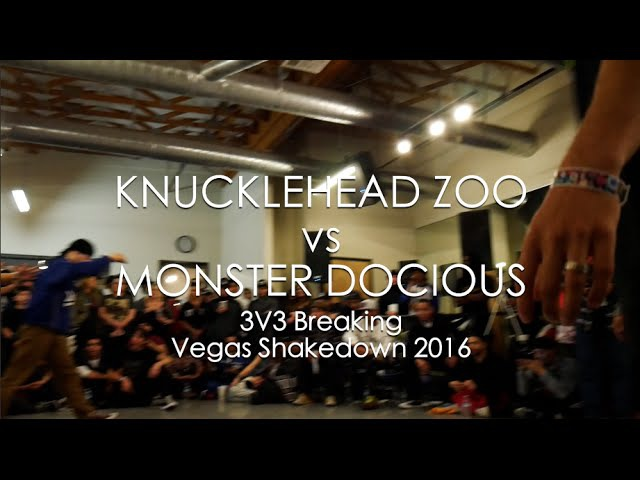 Knucklehead Zoo vs Monster Docious Breaking Finals Vegas Shakedown 2016 SXSTV