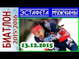 ЭСТАФЕТА Мужчины 13.12.2015 БИАТЛОН 2015-2016 Кубок мира Хохфильцен (Австрия) 2-й этап