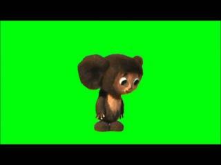 Сборник футажей персонажей из мультфильма на зеленом фоне  Footage cartoon characters