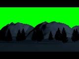 Зима зеленый фон хромакей скачать бесплатно