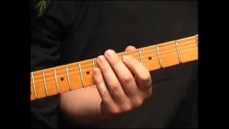 Блюзовая гитара. Блюз-роковые риффы. Пример 1