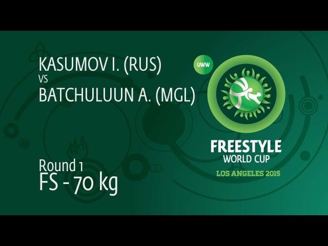 Round 1 FS 70 kg Israil KASUMOV RUS df Ankhbayar BATCHULUUN MGL by FALL 8 10