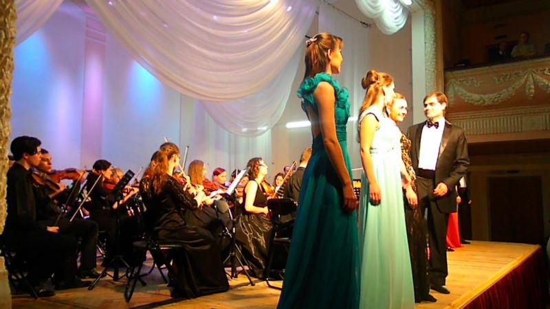 Джузеппе Верди застольная песня из оперы Травиата Исполняют все солисты