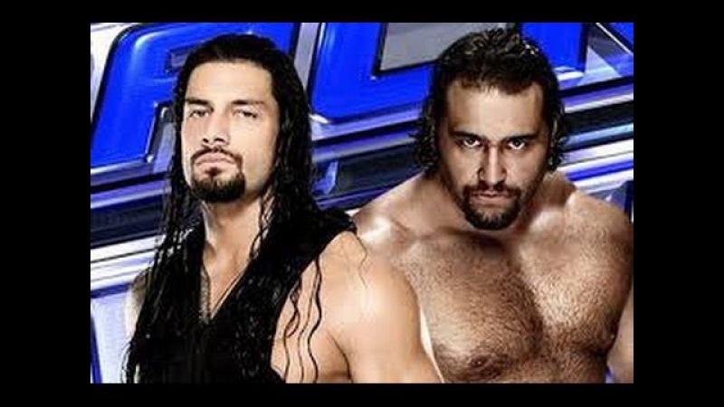 WWE Thursday Night Smackdown 06.08.2015 Roman Reigns VS Rusev