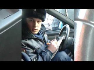 Полиция против забастовки дальнобойщиков в Красноярске
