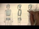 Как рисовать различные мужские пропорции тела в стиле манга