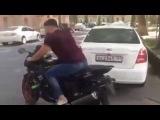 Таджик впервые на мотоцикле (Прикол смотреть всем)