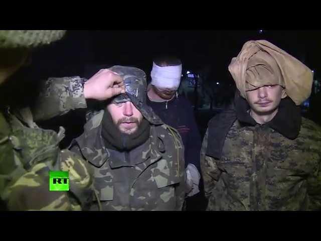 Пленные украинские солдаты Мы не знали, что Дебальцево в котле, командование нас бросило. Опубликовано 11 февр. 2015 г.