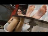 FOOT FETISH SEXY FEET GIRL BLACK TOE NAILS CZECH FEET