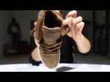 Globe Sneaker - Motley Mid Fur distressed brown fur dark shadow - Men