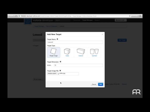 Основы работы с Qualcomm Vuforia Создание простого приложения дополненной реальности