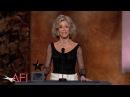 Jane Fonda accepts the 2014 AFI Life Achievement Award