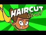 Kids song HAIR CUT STRUT children's country music line dance video by Preschool Popstars kid songs
