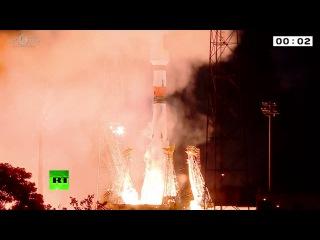 Ракета «Союз» с европейскими навигационными спутниками стартовала с космодрома во Французской Гвиа