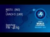 Repechage FW - 48 kg: O. LIVACH (UKR) df. . NEETU (IND) by TF, 12-1