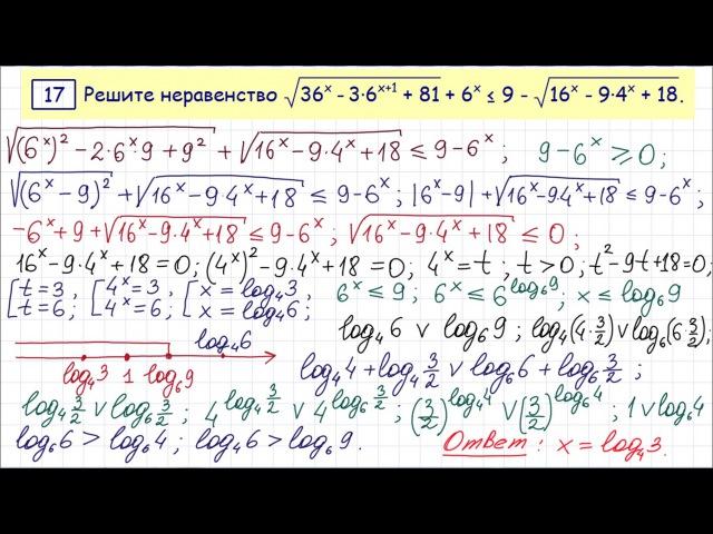 Задание 15 ЕГЭ по математике 34