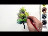 How to paint the various tree by Um KyungHo