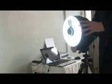 Изотопная или Лазерная метка на лоб при биометрической процедуре, фотоаппарат подкл. к компьютеру.