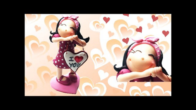 Valentine's day figurine- Polymer clay (Fimo) Tutorial