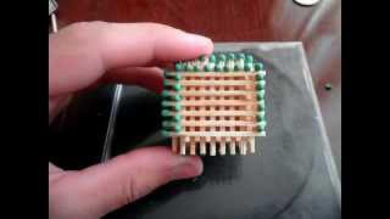 Как сделать кубик из спичек без клея
