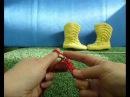 Как связать пинетки-сапожки на двух спицах - 2 / How to knit baby booties shoes very easy - 2