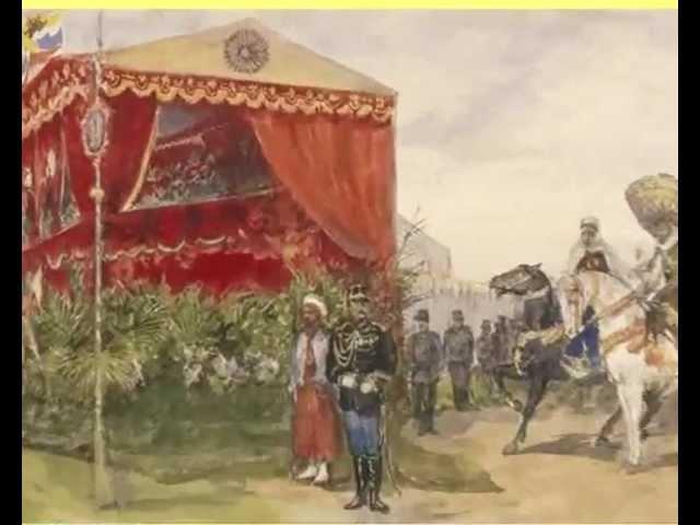 Аудиозапись голоса Николая II (с 0:14 по 1:03) 8 мая 1902 года во время визита в Россию Президента Э.Лубэ.