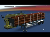 Iron Pipes, Logs and Lumber trailer mod pack ETS2