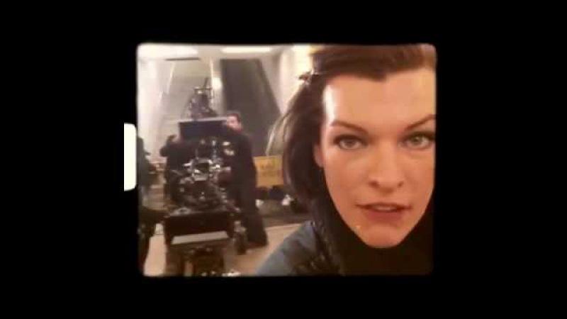 Обитель зла 5 Возмездие видео со съёмок 2