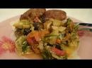 Овощное рагу Рецепт баклажанов с кабачком как приготовить блюдо вкусно ужин домашние быстро видео