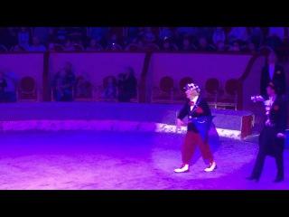 Мышь летает из под купола цирка - клоун Олег Попов