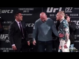 UFC 197- Conor McGregor vs. Rafael dos Anjos Staredown