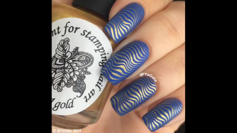 Kaleidoscope No st-21 gold for stamping nail art