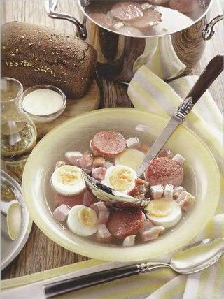 Фото рецепта: Польский пасхальный яичный суп