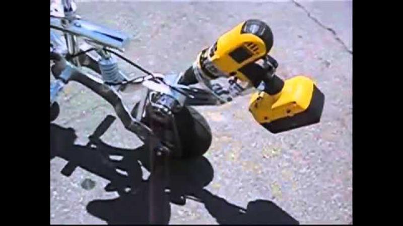 Электровелосипед из шуруповерта устройство