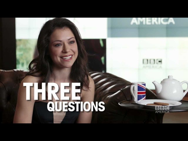 Tatiana Maslany: 3 Questions, 2 Biscuits 1 Cup of Tea - ORPHAN BLACK BBC America 08.04.2013