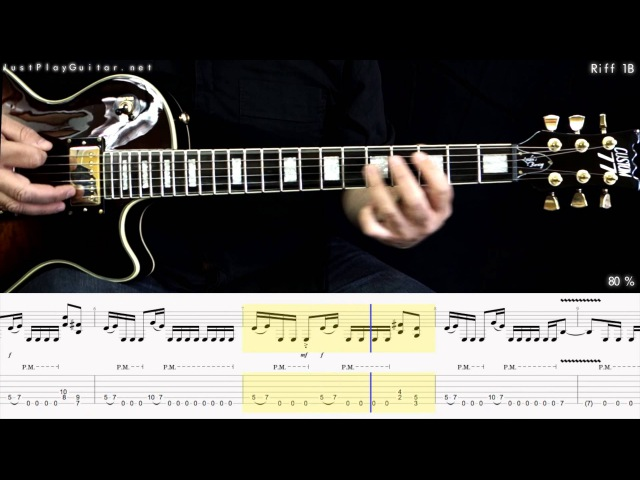 [ MEGADETH - Holy wars ] how to play part 2/2 [ free guitar lesson ] 40% 60% and 80% speed with tabs