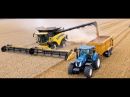 New Holland CR10 90 combine Guinness World Records attempt