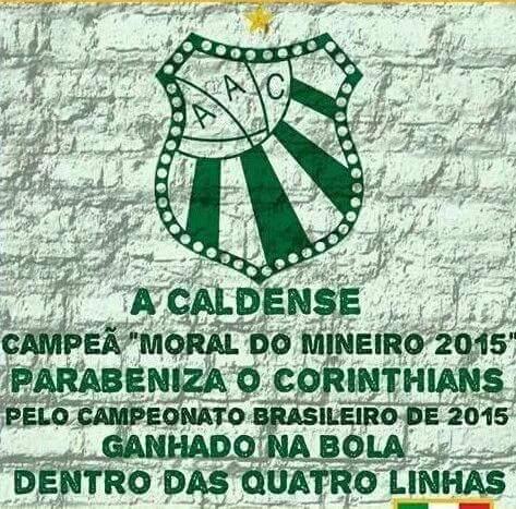 Caldense: Parabeniza o Corinthians pelo titulo brasileiro. CTxSfDHY8d0
