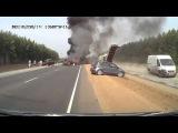 Авария на регистратор №1056, 14 Августа 2013, ужасное ДТП на трассе М6, загорелось авто,сгорели люди