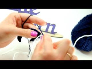 Видеоурок вязания от Fineyarn 2 Смена цвета нити при вязании крючком в середине ряда