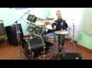 Виктор Цой - Песня Без Слов - Drum Cover - Барабанщик Даниил Варфоломеев 11 лет.