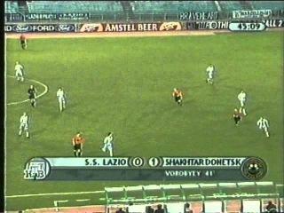 Волевая победа Шахтера. ЛЧ Лацио Рим - Шахтёр Донецк 5-1 (25.10.2000)