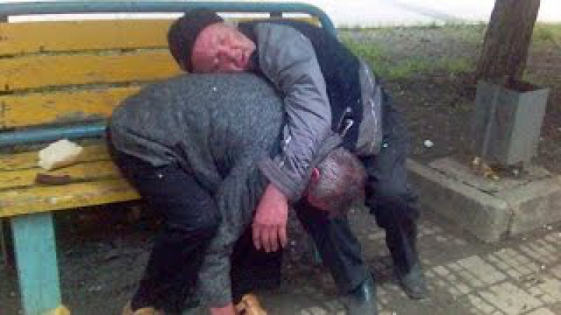 Смешные драки бомжей и алкашей. ПЬЯНАЯ РОССИЯ и УКРАИНА (Drunk fights Russia) 2015